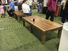 Bench on main aisle