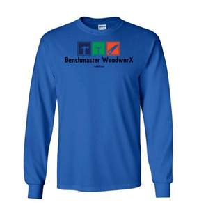 blue long sleeve tee