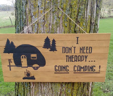Camping Therapy pallet wood sign