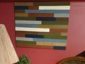 pallet wood art with color