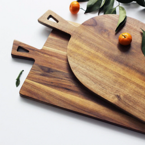cutting boards-close up of handles