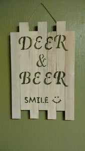 Pallet sign Deer & Beer