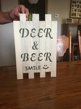 Deer and Beer Pallet Sign