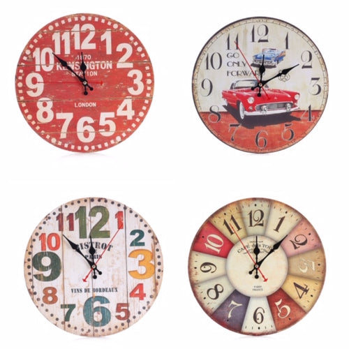 4 vintage clocks to choose from