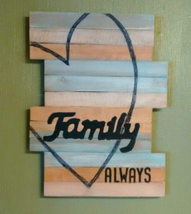 Family pallet wood sign