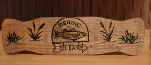 Fishing Wood Decor