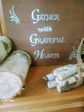 Gather pallet wood sign