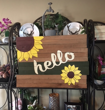 Sunflower pallet wood sign