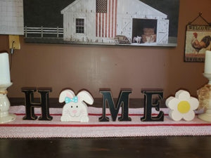 HOME decoration with bunny and flower