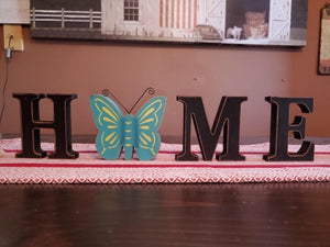 HOME decoration with butterfly