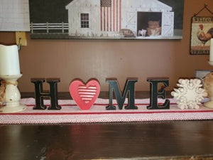 HOME decoration with heart and snowflake