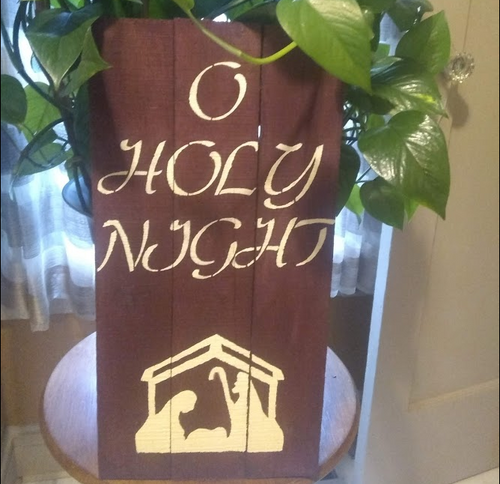 Holy Night pallet wood sign