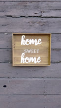 Home Sweet Home pallet sign hanging