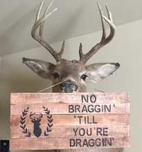 Hunting sign on deer face