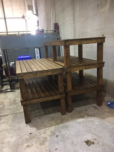 stackable wood benches