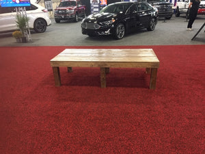 benches used at the auto show