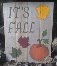Fall pallet wood sign