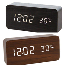 Black and walnut alarm clocks
