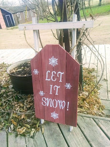 Let it snow pallet sled