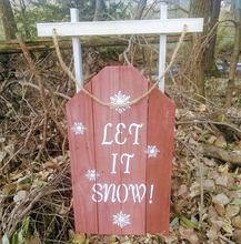 Let it snow pallet sled sign