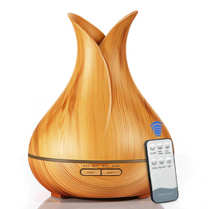 light wood grain diffuser with remote