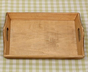 Light wood pallet tray