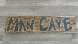 Man Cave pallet sign close up