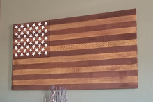 old glory wood pallet sign