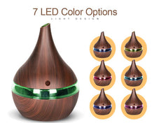 7 led colors with dark wood grain exterior