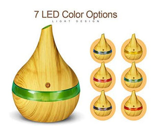 7 led colors with light wood grain exterior