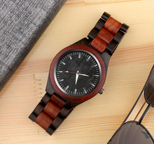 Popular wood watch-with dark wood grain face