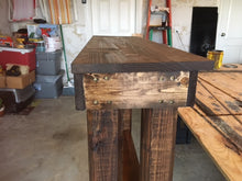 storm shelter shelf side view of beautiful wood grain
