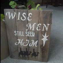 wise men pallet sign on floor-cropped