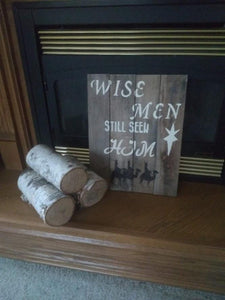 Wise Men pallet sign-original near fp