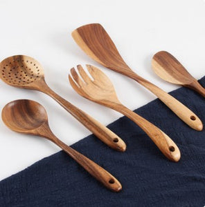 wood spoons laid out
