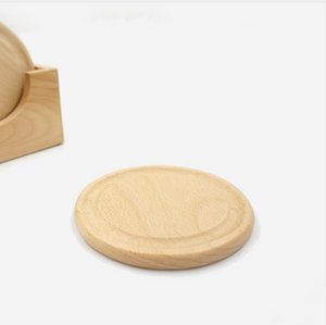 wood coaster with rim