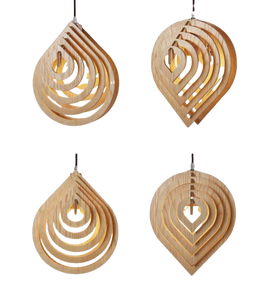 hang this wood pendant light with tip up or down