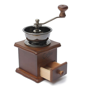 coffee bean grinder side view