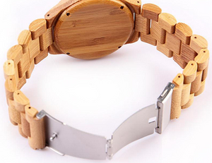 Woody Watch open clasp