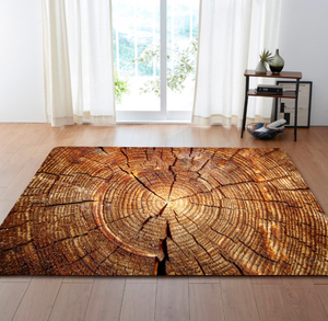 ageless tree ring rug