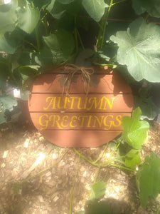 Autumn Pallet wood sign
