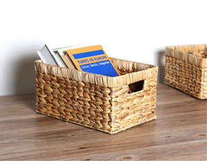 woven basket for books