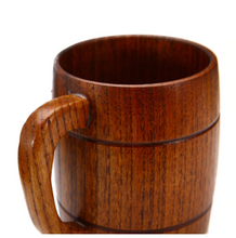 wooden beer mug inside view