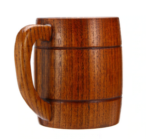 wooden beer mug left handle