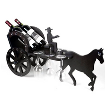 horse driven carriage for holding wine