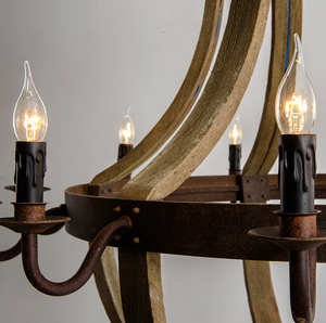 American vintage chandelier-wood view