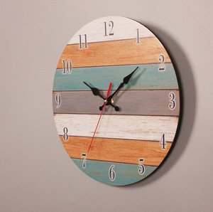 crafted pallet wood clock-side view