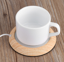 light wood cup warmer with plugin
