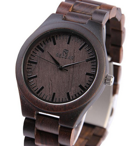Ebony wood wrist watch