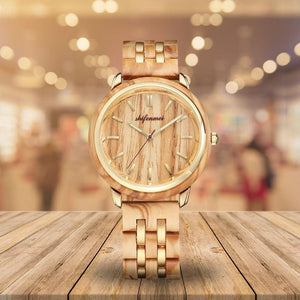luxurious wood watch